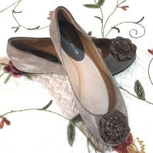 Antonio Melani 8.5 Beaded Flower Ballet Flats